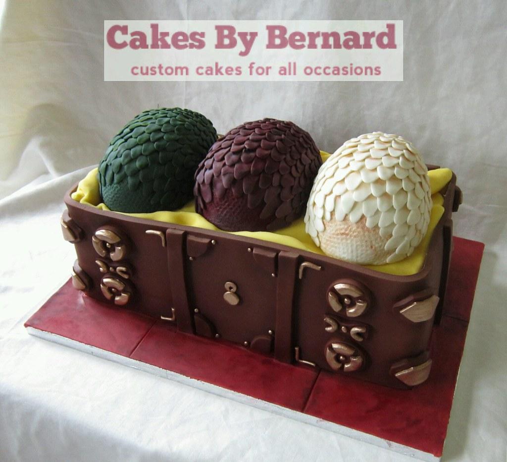 Game of Thrones, Daenerys dragon eggs cake | Bernard ...