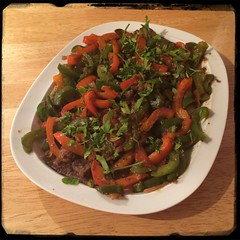 #Peppers and Steak in Red Wine Vinegar - #CucinaDelloZio