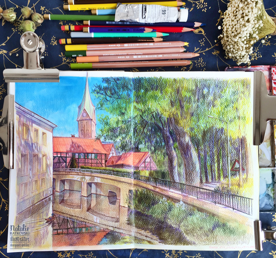 Drawing from life in Herten