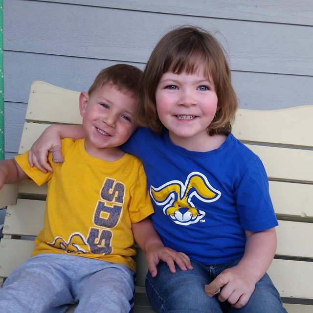 Love my little jackrabbits! #jacksalumni #littlejackrabbits #notacoyote