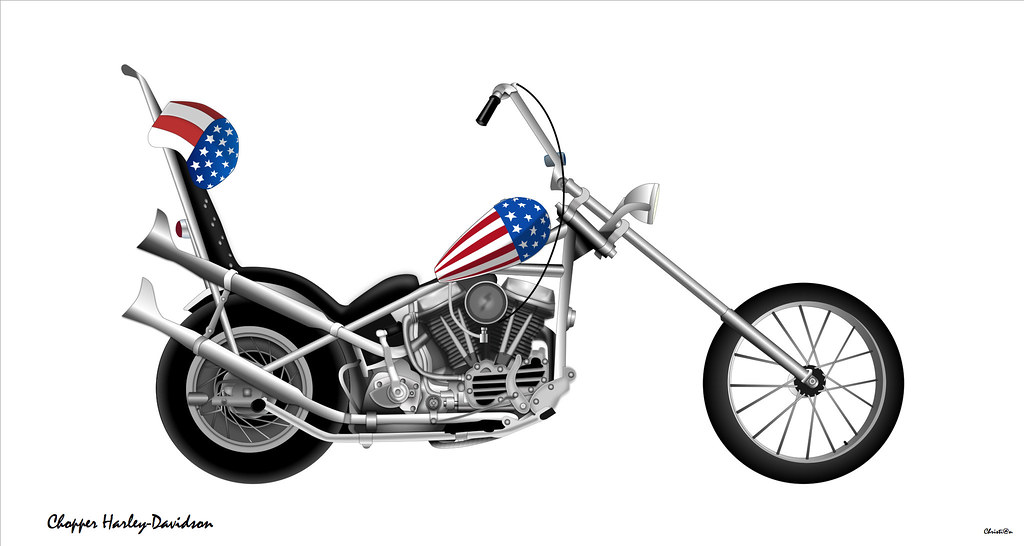 chopper harley davidson dessin vectoriel sur idraw flickr. Black Bedroom Furniture Sets. Home Design Ideas