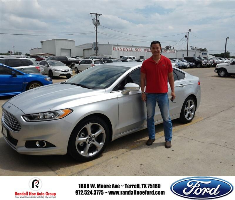 Randall Noe Ford >> Happyanniversary To Brent Joe On Your 2014 Ford Fusion