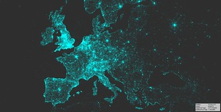 Visualization of geotagged Flickr photos (Europe), 2007-2015 | by Sieboldianus
