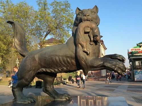 Joonas Heiskanen: A lynx statue in Irkutsk