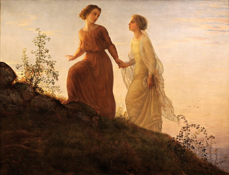 Louis Janmot - Poem of the Soul; On the mountain (1854)