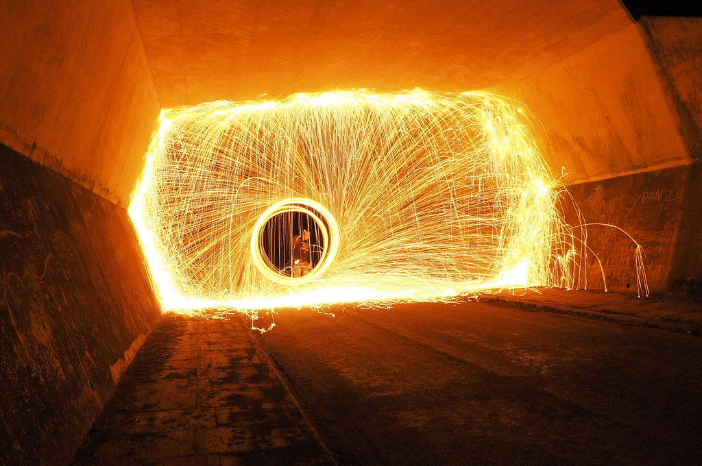 Tunnel of sparks