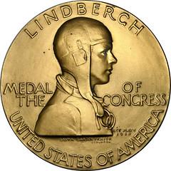 Lindbergh Congressional Gold Medal obverse