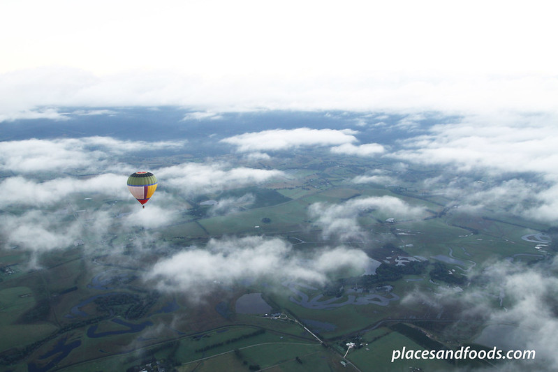 yarra valley hot air ballon on top of clouds small