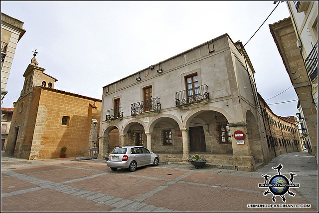 Plaza Mayor de Coria, Cáceres, Extremadura. España. Spain