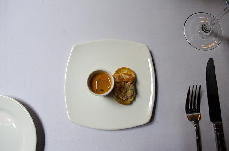 Wellington restaurante sopa de tomate
