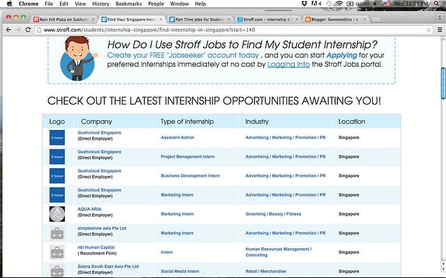 internship singapore