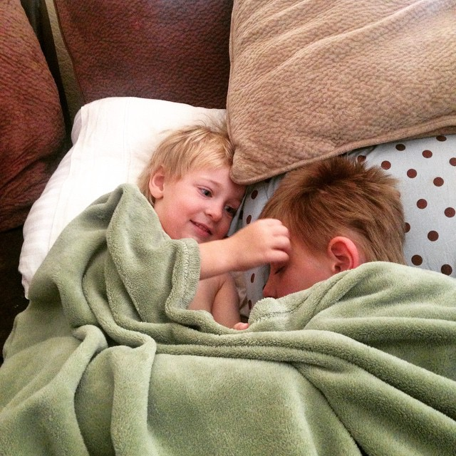 A little cold for #1. A little love for #2.  #bestbrothers