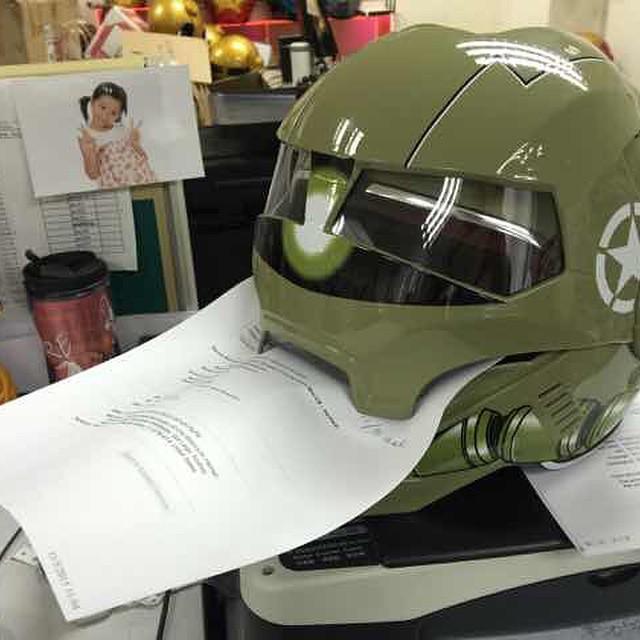 masei 610 zaku gundam motorcycle bike dot arai helmet flickr