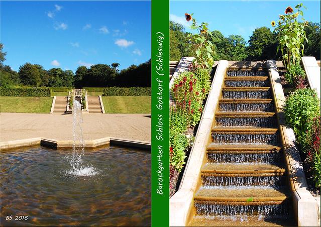 Schleswig / Schlei ... Schloss Gottorf - Gartenreise - Barockgarten - Globushaus - Herkulesteich - Gartenterrassen - Fotos und Collagen: Brigitte Stolle September 2016