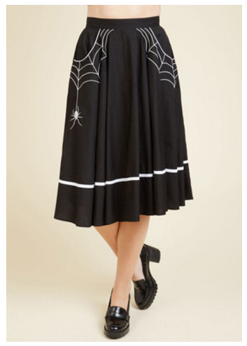 hell bunny spider skirt