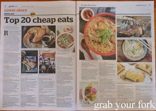 Sydney's Best Cheap Eats by Helen Yee for Good Food, 28 April 2015