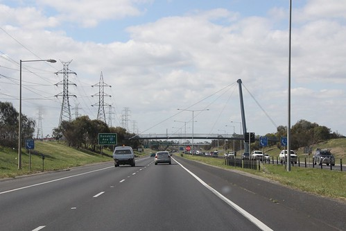 Northbound on the Western Ring Road at Sunshine Avenue