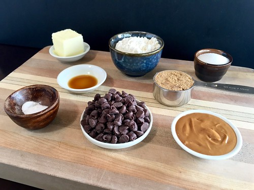 peanut butter chocolate chip cookie dough ingredients