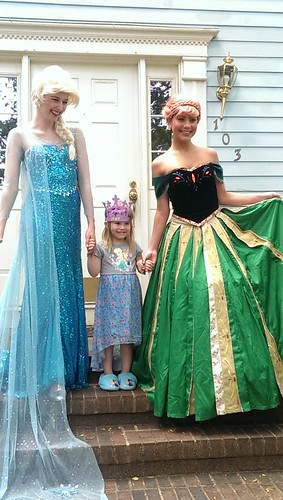 Lucy with Elsa and Anna