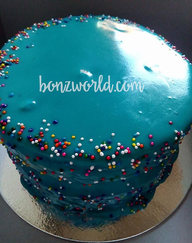Blue Chocolate Cake