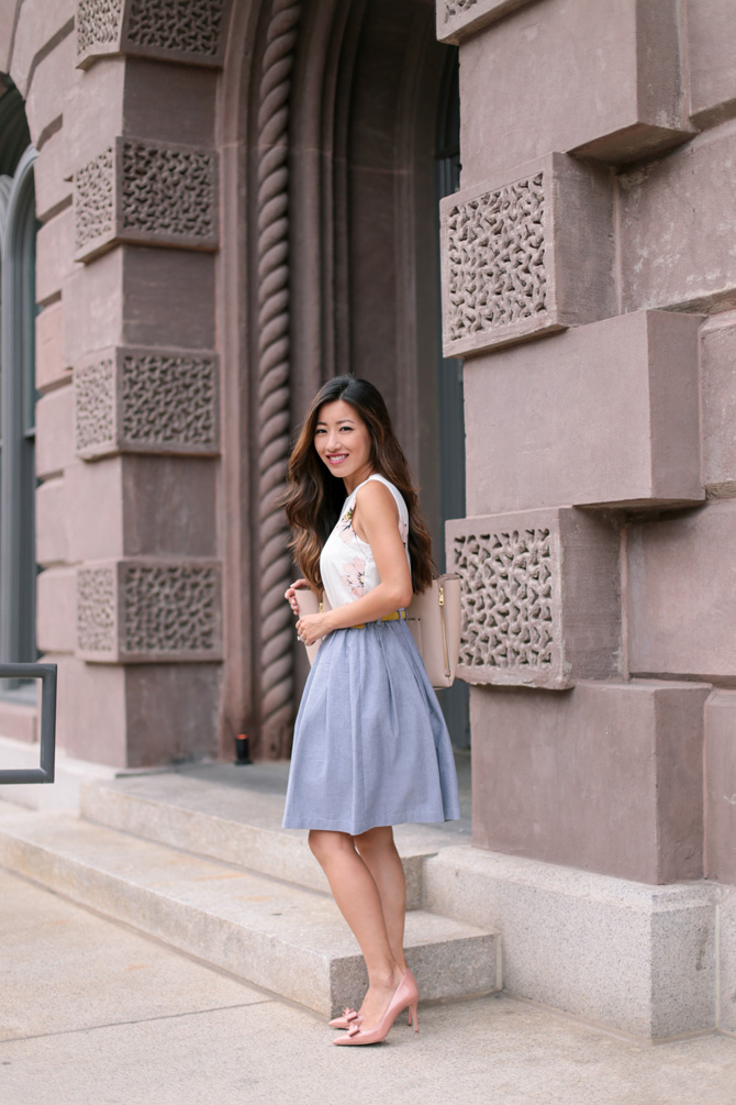 modcloth living the dream skirt_extra petite boston blogger