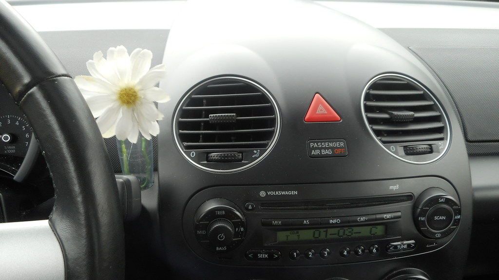Volkswagen New Beetle Flower Vase And Dashboard