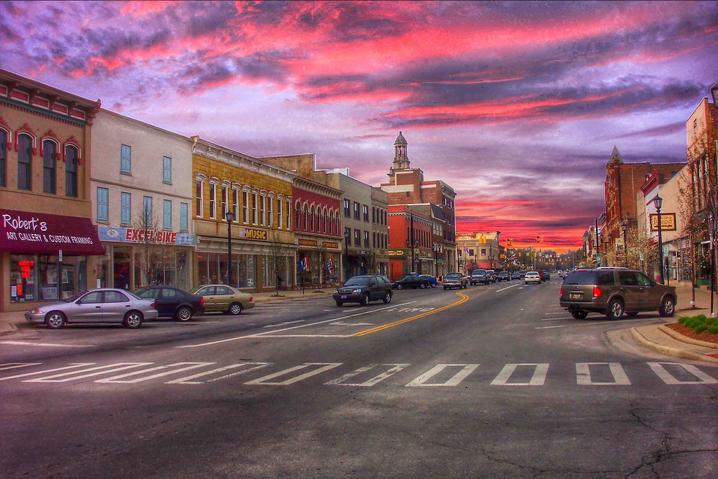 9 Km To Miles >> Norfolk Ohio ~ Downtown at Sunset ~ Historic Town | Norwalk … | Flickr