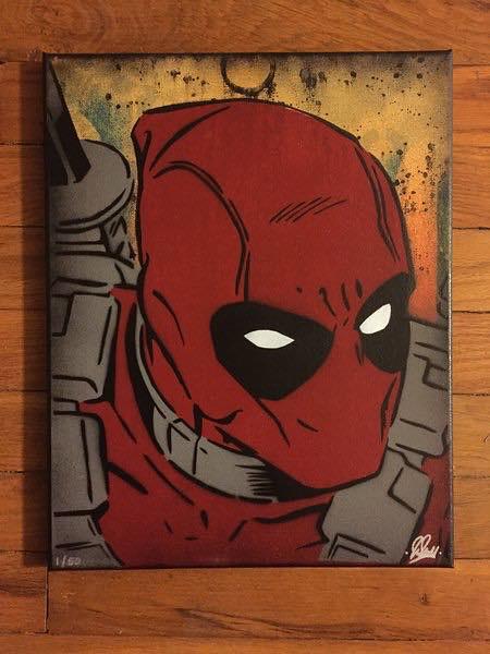 Deadpool canvas by Chris Cleveland Studios