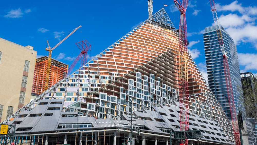 West 57 Pyramid Shaped Tower Block Under Construction On