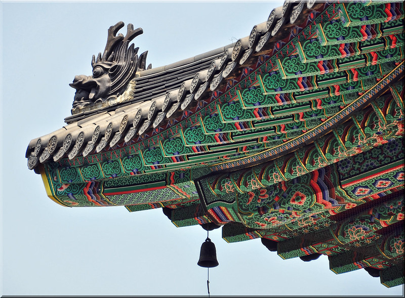 Roof Line at Jogyse-Sa Temple, Seoul
