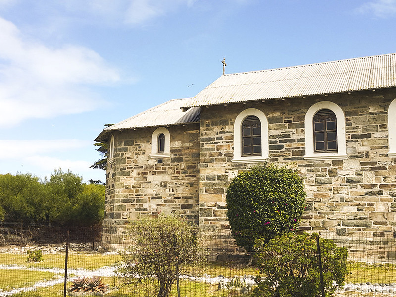 Robben Island church back