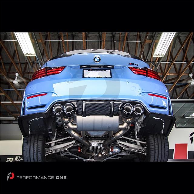 Akrapovič Slip-On Line Titanium exhaust system w/ carbon fiber exhaust tips & 3D Design rear carbon fiber diffuser for BMW F82 M4   #BMW | #F82 | #M4 | #F82M4 | #yasmarina | #yasmarinablue | #Akrapovic | #carbon | #3ddesign | #madeinjapan | #diffuser | #t