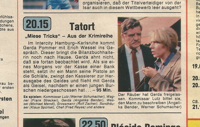TATORT -Miese Tricks, EA 26.5.1985