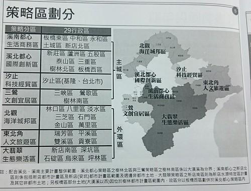 新北市區域計畫策略區劃分表