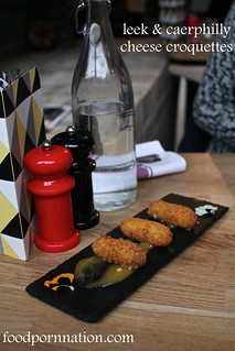 Leek & Caerphilly cheese croquettes - Forge & Co, Shoreditch - London Food Blog | by Priscilla @ Food Porn Nation