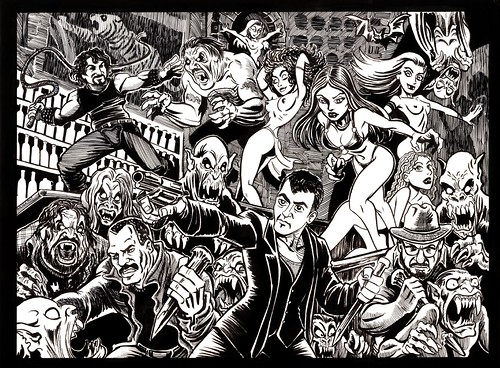 From Dusk Till Dawn Comic Art.