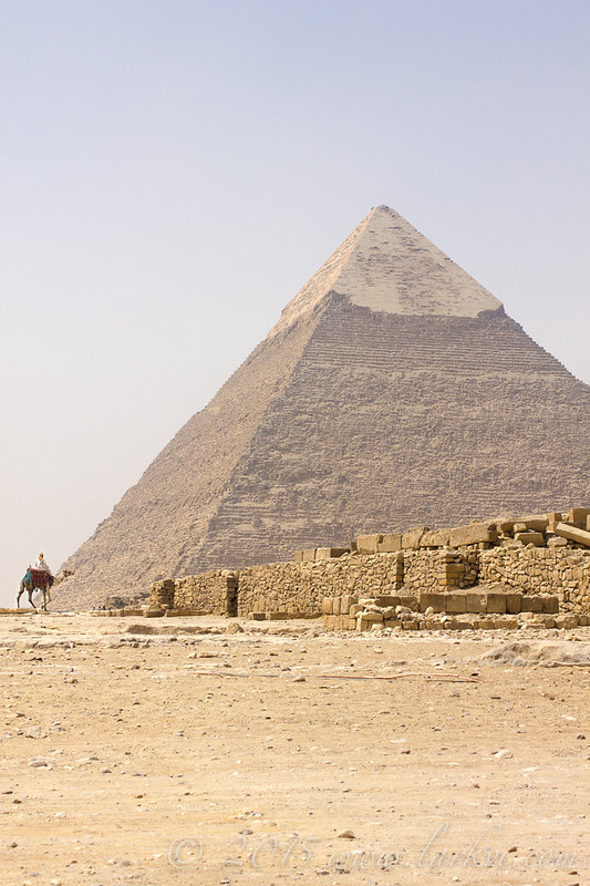 At the Pyramid of Khafre, Giza, Egypt 2015