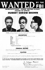 FBI Wanted Poster for H. 'Rap' Brown: 1967