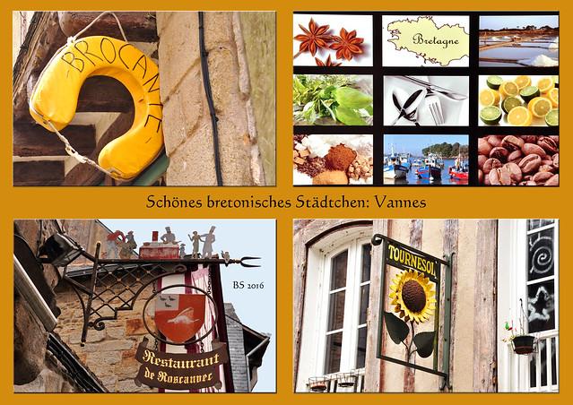 Vannes - Département Morbihan - Bretagne - Bummel durch die historische Altstadt - Centre historique - Impressionen - Foto: Brigitte Stolle 2016