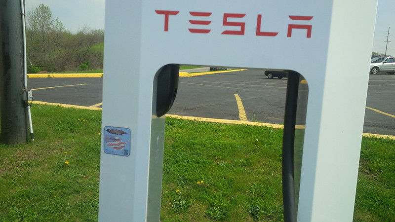 Which of the @TeslaRoadtrip participants put this in Angola, IN? Stall 1B!