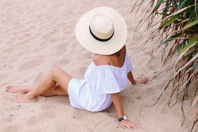 DIY White Beach Dress