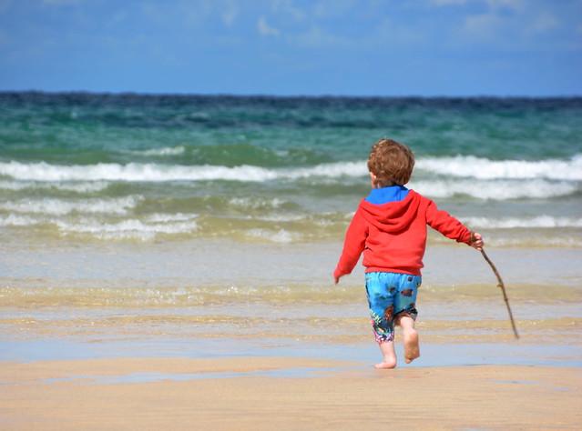 Lucas a day at the beach