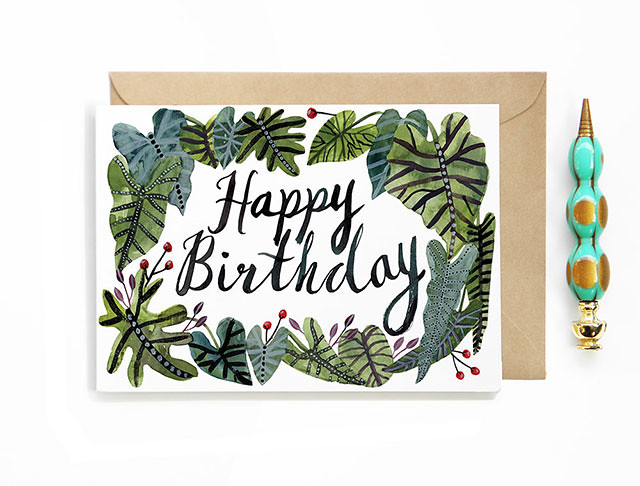 Happy Birthday Tropical Card