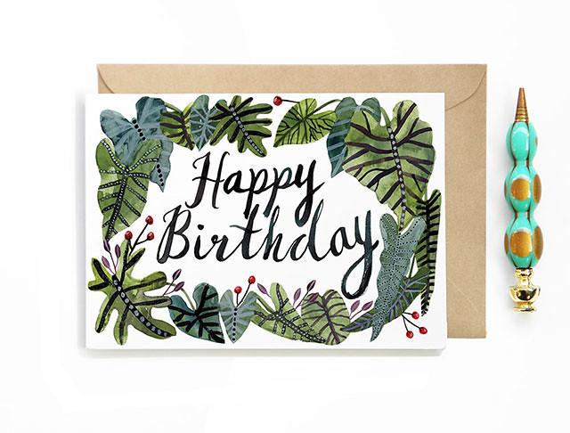 Happy Birthday Tropical Card