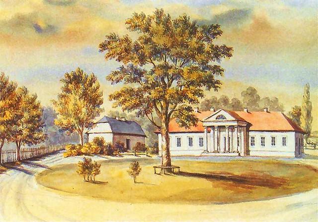 Поместье Тадеуша Рейтана в Грушевке на рисунке Наполеона Орды
