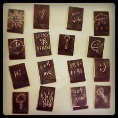 Chalkboard matchbook notepads #littleartbook