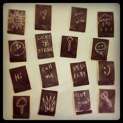 Chalkboard matchbook notepads #littleartbook