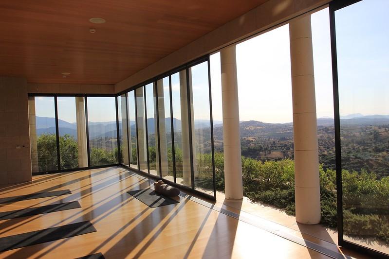 Amanzoe yoga studio