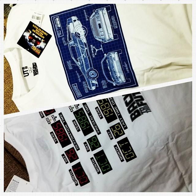 ユニクロ感謝祭にてバック・トゥ・ザ・フューチャーTシャツ購入。おもてがデロリアン、裏が西暦。お気に入りになりそうですよ。#Tシャツ#バック・トゥ・ザ・フューチャー#映画 #ユニクロ #ファッション