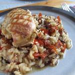 ©Hähnchen-Pilaw mit Sonnengetrockneten Tomaten im 1,5-l-Crocky